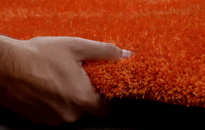 Hochflor TeppichShaggy Tom Tailor Soft uni orange (in 8