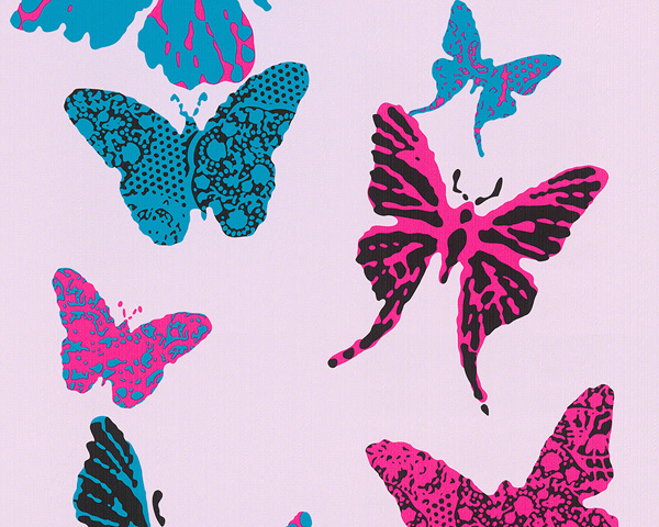 Kinderzimmer Tapete As Creation : & Girls Kinderzimmer-Tapete Schmetterlinge rosa 93634-2 AS Creation