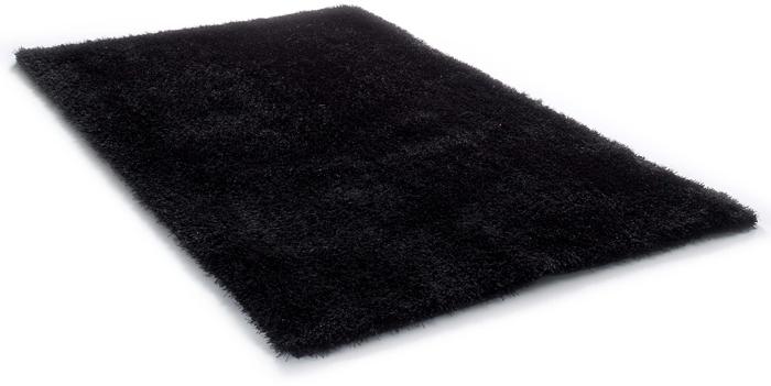 tapis poils longs poils longs shaggy tom tailor souple uni black en 8 tailles ebay. Black Bedroom Furniture Sets. Home Design Ideas