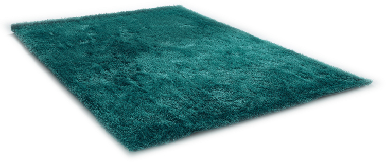 Hochflor TeppichShaggy Tom Tailor Soft uni türkis (in 8