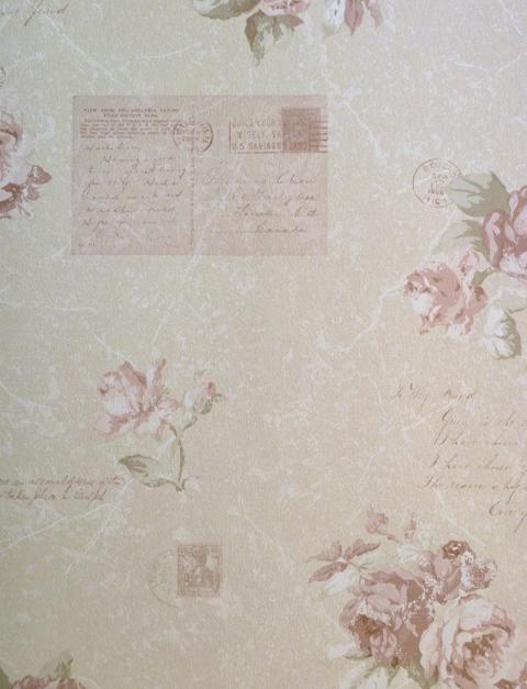 Memories Nostalgie Retro Vlies Tapeten : Memories 2″ Vlies-Tapete Nostalgie Rose Postcards G56139 (8.06 Euro