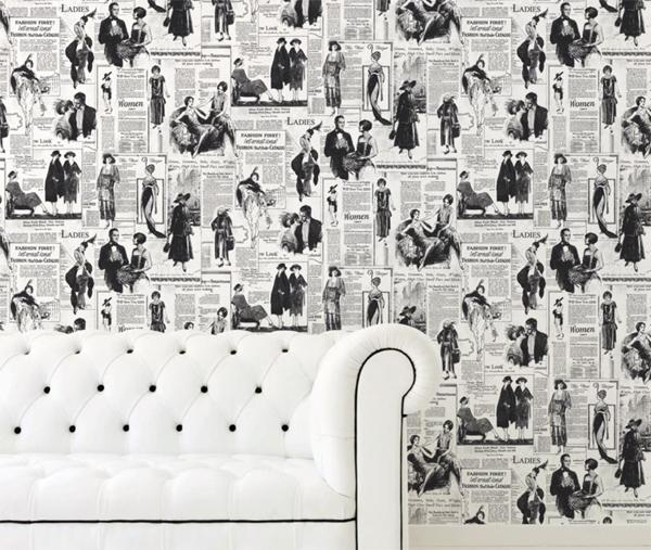 memories 2 vlies tapete news zeitung 20er 30er jahre nr. Black Bedroom Furniture Sets. Home Design Ideas