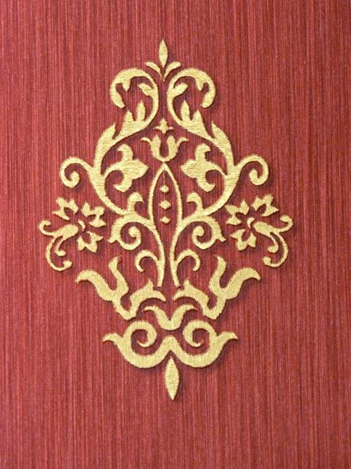 Consularia del papel pintado barroco rojo dorado 95305 for Papel pintado grueso