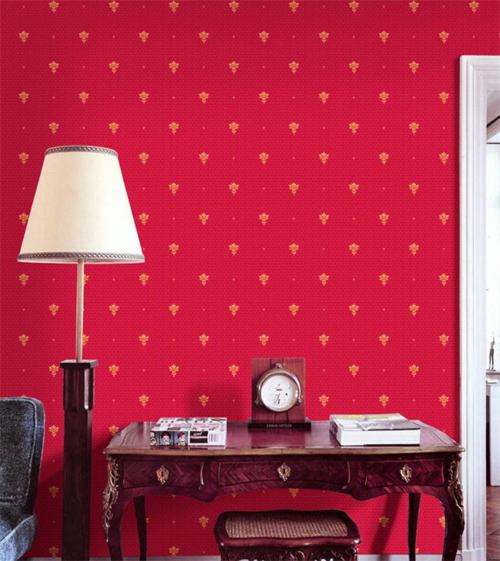 wohnzimmer tapete ideen rot ? elvenbride.com