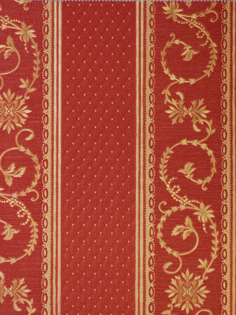 Ornamenta barock tapete streifen rot gold 94525 stoff for Tapete rot gestreift