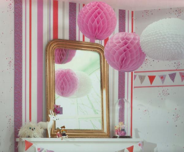 S lo las ni as habitaci n infantil papel pintado rayas - Papel de rayas para habitacion infantil ...