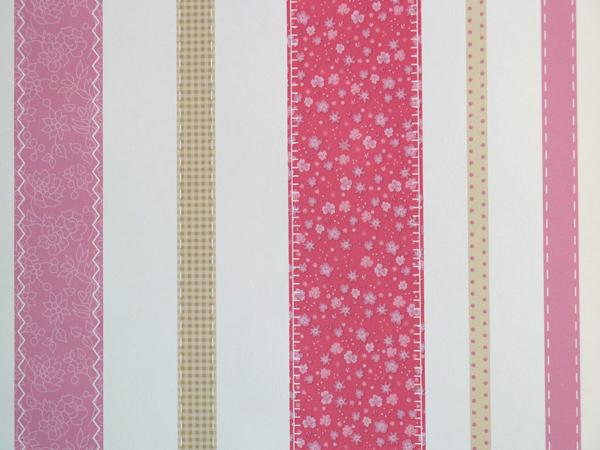 Girls Only Kinderzimmer Tapete Streifen rosa-beige GLN 6205 4022 (5.62 ...