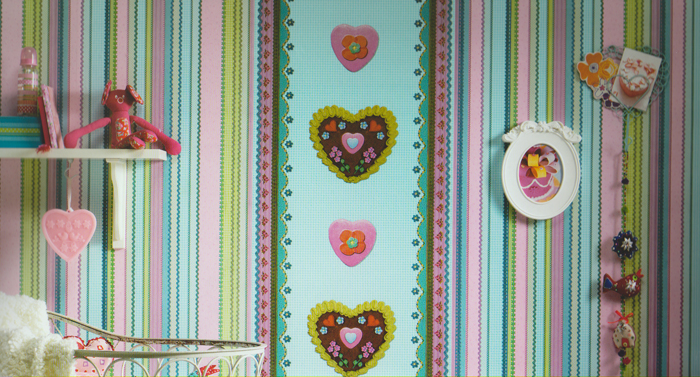 Kinderzimmer Tapete Patchwork : Tapete Kinderzimmer Be Happy Pictures to pin on Pinterest