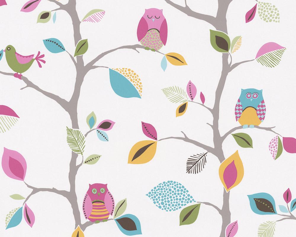 Kinderzimmer Tapete As Creation : Owls Backgrounds for Girls Kids
