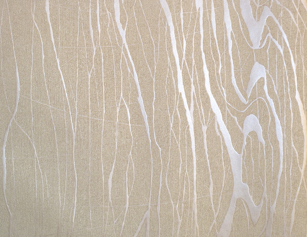 Colani visions fleece wallpaper tree bark beige metallic for Fleece tapete