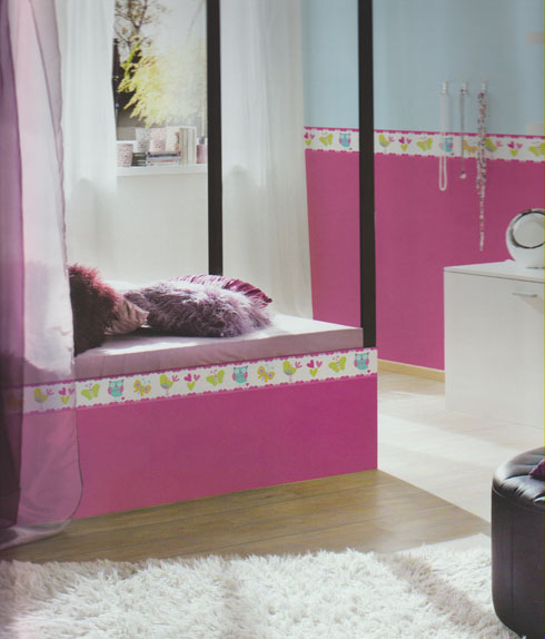 kids party kinderzimmer bord re selbstklebend 8954 17 as creation ebay. Black Bedroom Furniture Sets. Home Design Ideas