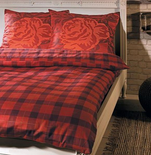 s oliver feinflanell bettw sche rose 6277 430 ebay. Black Bedroom Furniture Sets. Home Design Ideas