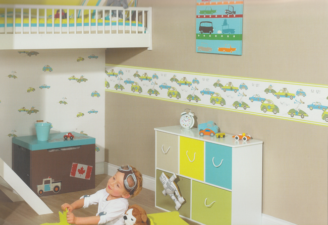 tapeten kinderzimmer jungen. Black Bedroom Furniture Sets. Home Design Ideas
