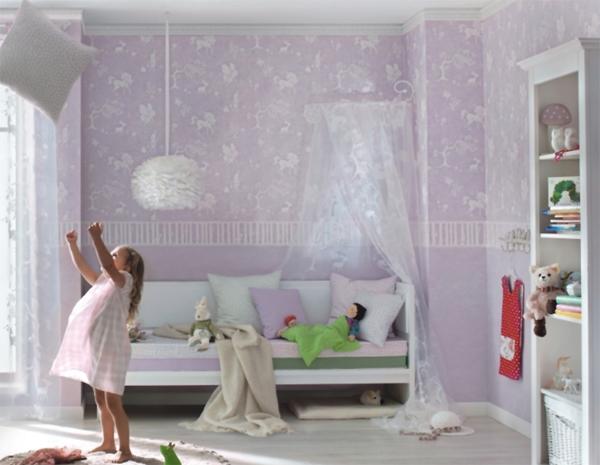 Kinderzimmer Tapeten Flieder : Bambino 2015 Kinderzimmer-Tapete 287820 Zauberwald flieder (2.62 Euro
