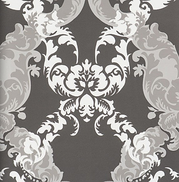 ornamentals barock tapete ornamente 48663 schwarz silber. Black Bedroom Furniture Sets. Home Design Ideas