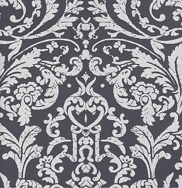 Barock Tapete Schwarz Wei? : Ornamentals Barock-Tapete Ornamente 48656 schwarz-wei? (6.56 Euro pro