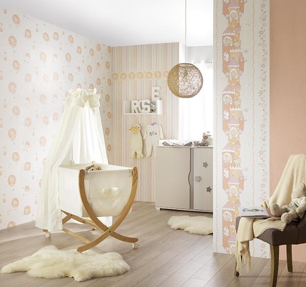 lovely kinderzimmer tapete 7322 05 b rchen rosa gr n euro pro m ebay. Black Bedroom Furniture Sets. Home Design Ideas