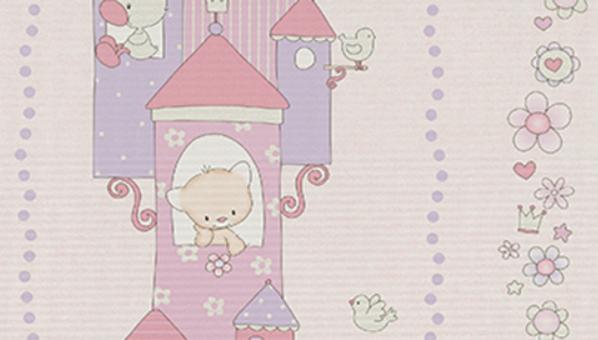 Kinderzimmer Tapeten Flieder : Lovely Kinderzimmer-Tapete 7321-09 B?rchen rosa-flieder (2.62 Euro