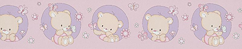 Kinderzimmer Tapeten Flieder : Lovely Kinderzimmer-Bord?re 0013-09 B?rchen rosa-flieder (2.70 Euro