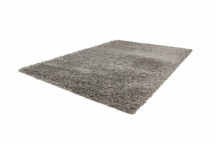 Designer Teppich Grau Schurwolle Wolle : Hochflor Teppich Shaggy Kuschel-Teppich SHG 100 Silber-grau Höhe 5 cm ...
