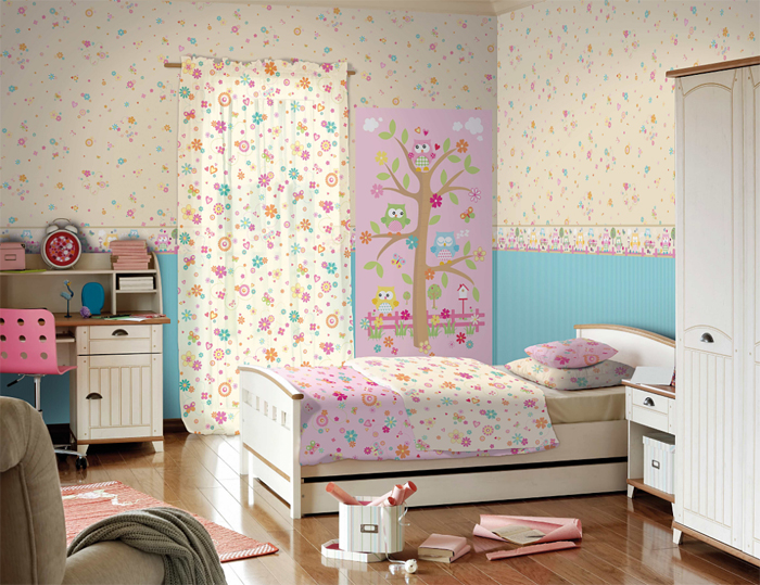 coconet kinderzimmer tapeten bord re 319483 eulen selbstklebend euro m ebay. Black Bedroom Furniture Sets. Home Design Ideas