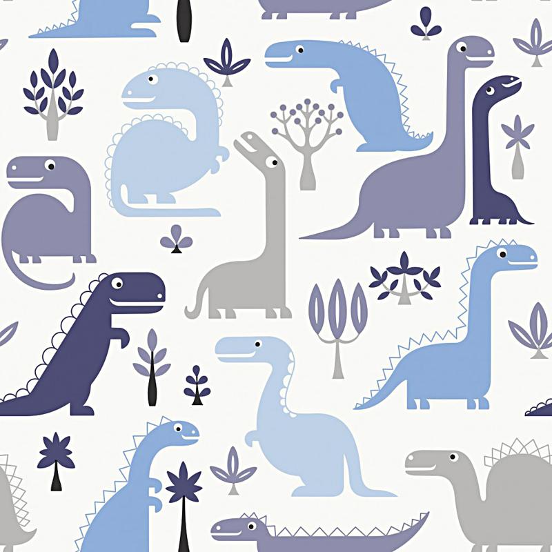 jack'n rose kinderzimmer vlies-tapete ll-10-02-1 dinosaurier