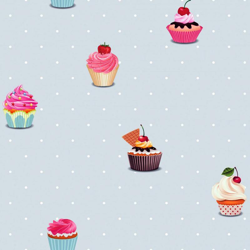 Kinderzimmer Tapete Eule : Rose Pink Cupcake Borders
