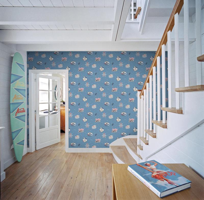 jack 39 n rose kinderzimmer vlies tapete ll 12 02 9 surf party 4 87 euro m ebay. Black Bedroom Furniture Sets. Home Design Ideas