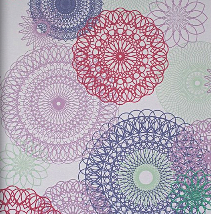 Lef 2014 fleece wallpaper mandalas 48911 girly for Poster jugendzimmer