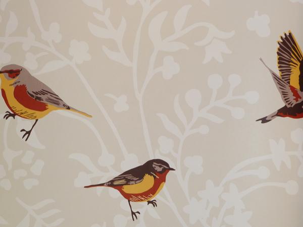 Muster Tapete Um Fenster Kleben : Vintage Chic Vlies-Tapete 321608 V?gel beige v. Rasch Textil (5.62