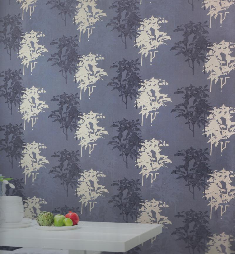 Paradiso vlies tapete pa 16855 gr ser floral lila silber for Tapete lila silber