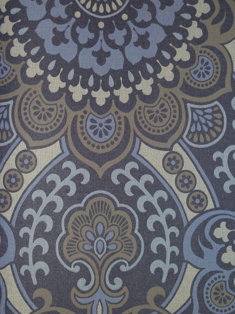 Paradiso vlies tapete pa 16867 ornamente blau for Tapete ornamente blau
