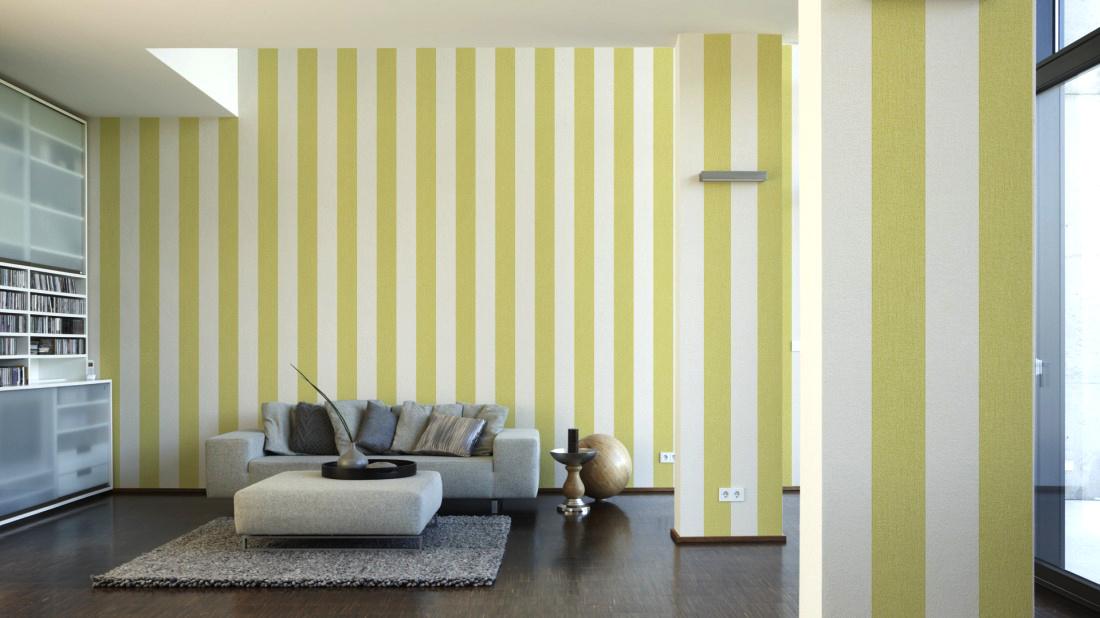 andora vlies tapete 95327 3 streifen gr n wei euro pro m ebay. Black Bedroom Furniture Sets. Home Design Ideas