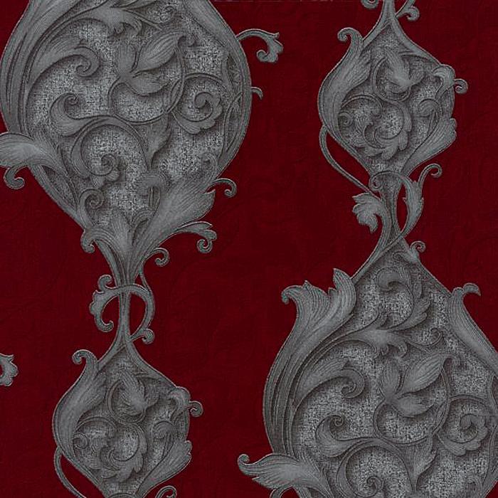 Dieter Bohlen Tapete Silber : Dieter Bohlen Opulent Ornamente Vlies-Tapete 02423-30 rot-silber (4.46