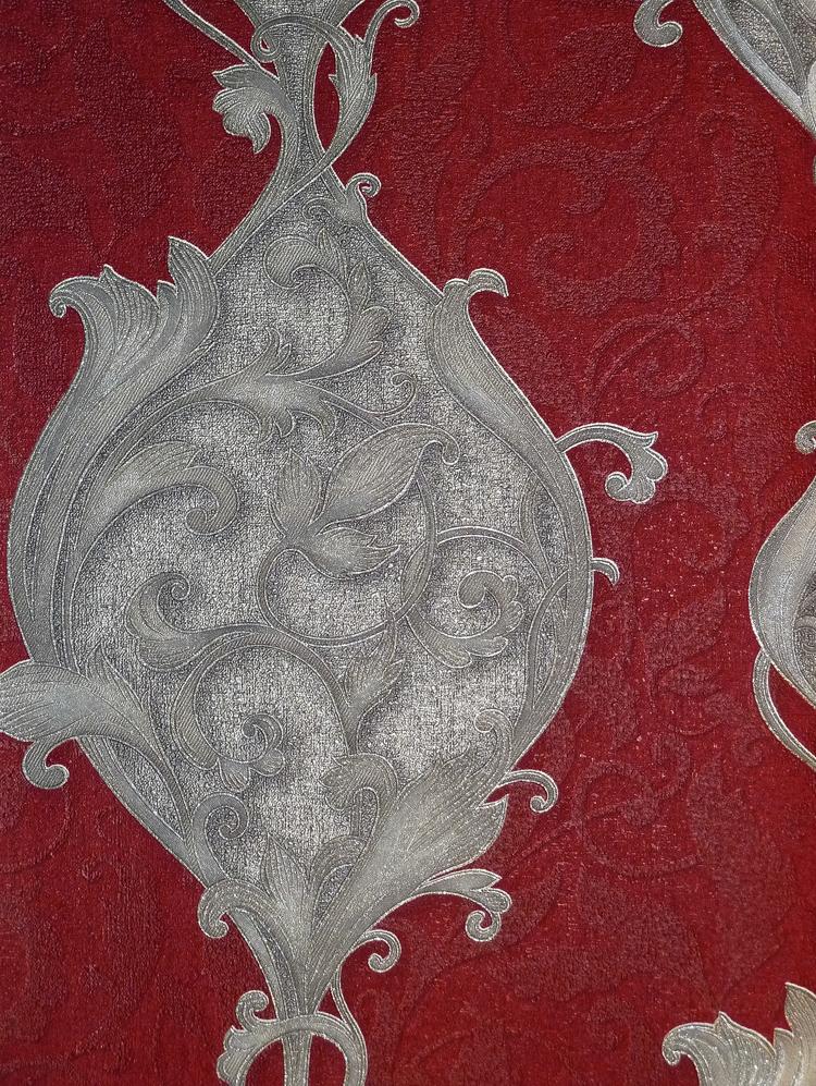 Dieter bohlen opulent ornamente vlies tapete 02423 30 rot for Tapete rot silber