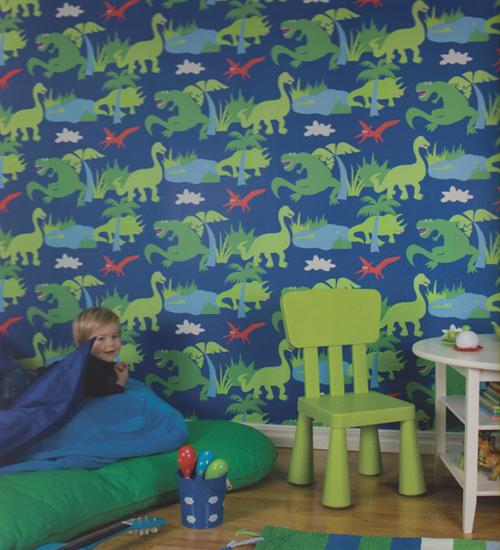 Kompis kinderzimmer tapete dinosaurier blau 321004 v rasch textil euro m ebay - Kinderzimmer tapete rasch ...