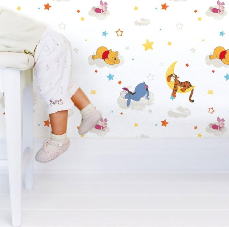 Disney Tapete Winnie Pooh : Kids@Home Tapete Kinderzimmer-Tapeten DF70799 Winnie Pooh Rise and