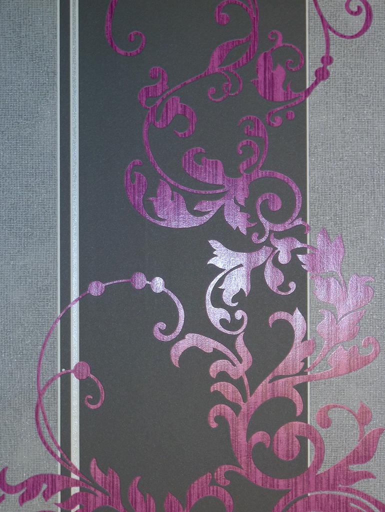 myself vlies tapete ornamente pink grau 6858 09 glimmer 2. Black Bedroom Furniture Sets. Home Design Ideas