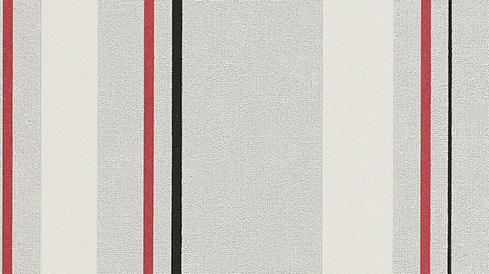 me papier peint polaire bande gris noir rouge blanc 6859 06 mica ebay. Black Bedroom Furniture Sets. Home Design Ideas