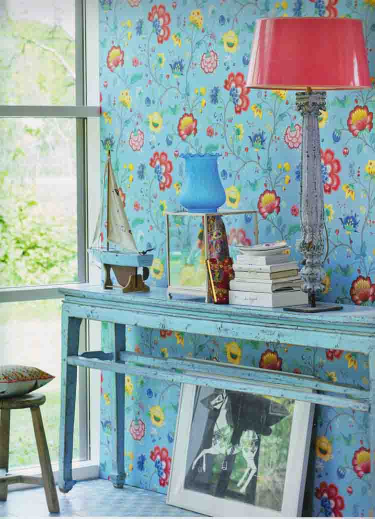 pip studio papier peint polaire 341035 floral bleu vintage par m ebay. Black Bedroom Furniture Sets. Home Design Ideas