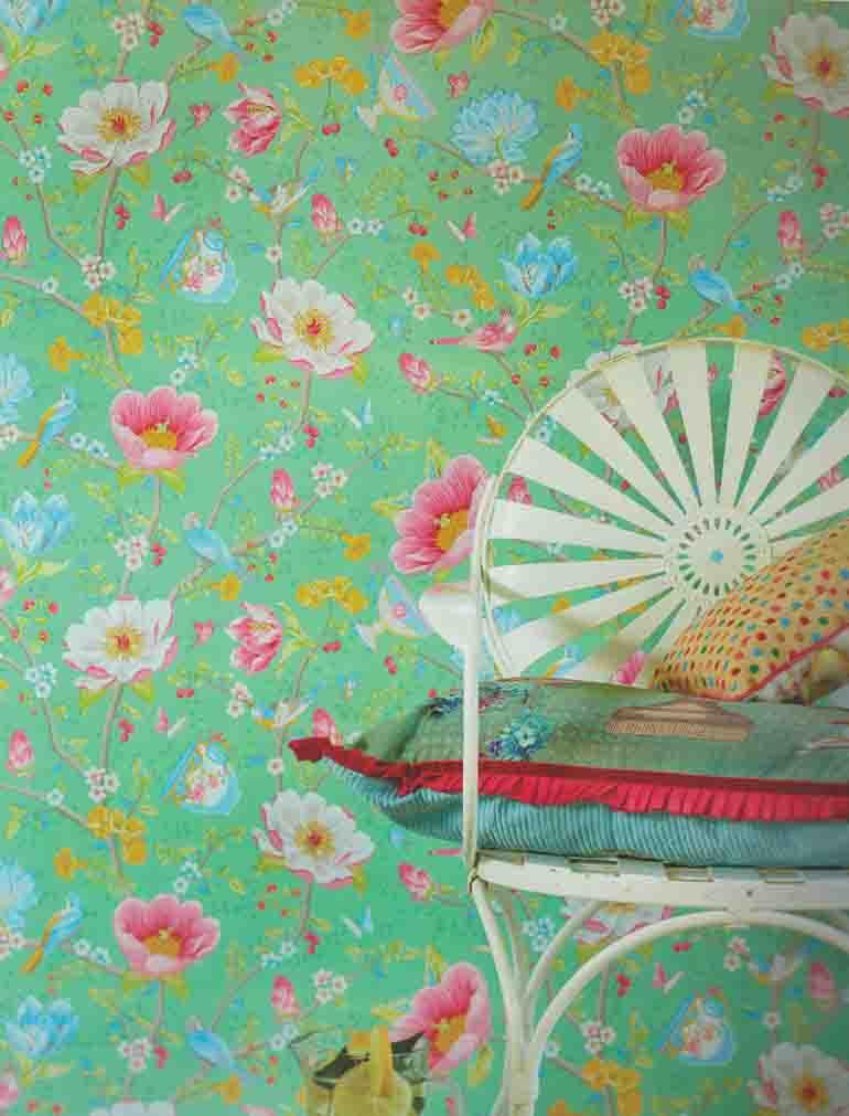 Pip Studio Vlies Tapete 341005 Floral Vogel Grun Vintage 11 06 Euro