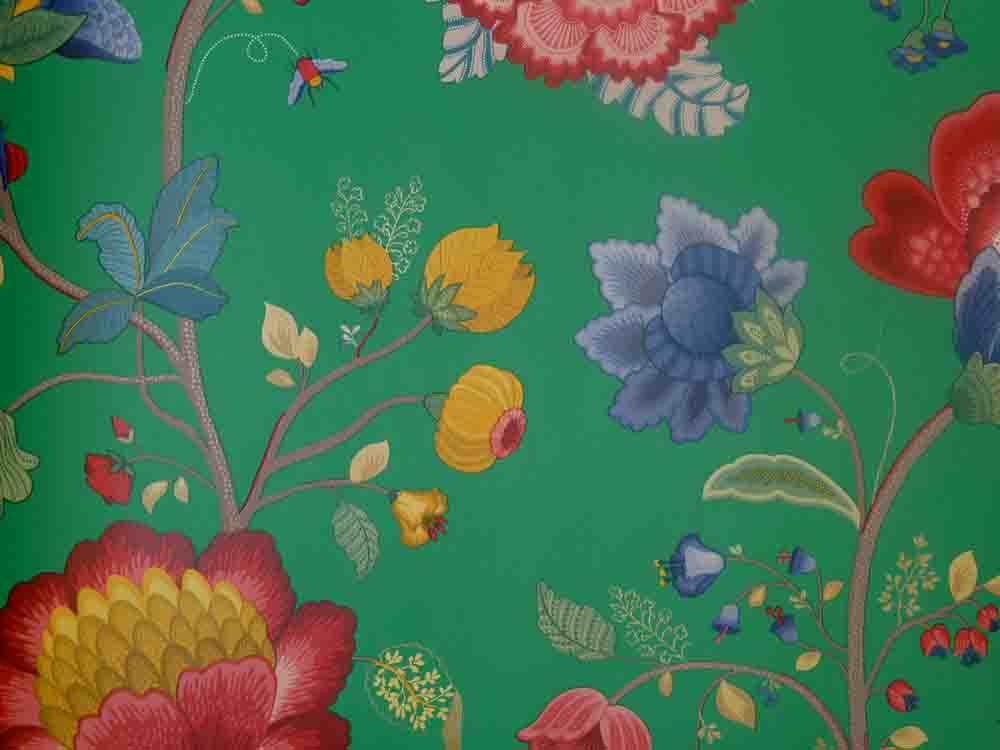 pip studio vlies tapete 341036 floral gr n vintage. Black Bedroom Furniture Sets. Home Design Ideas