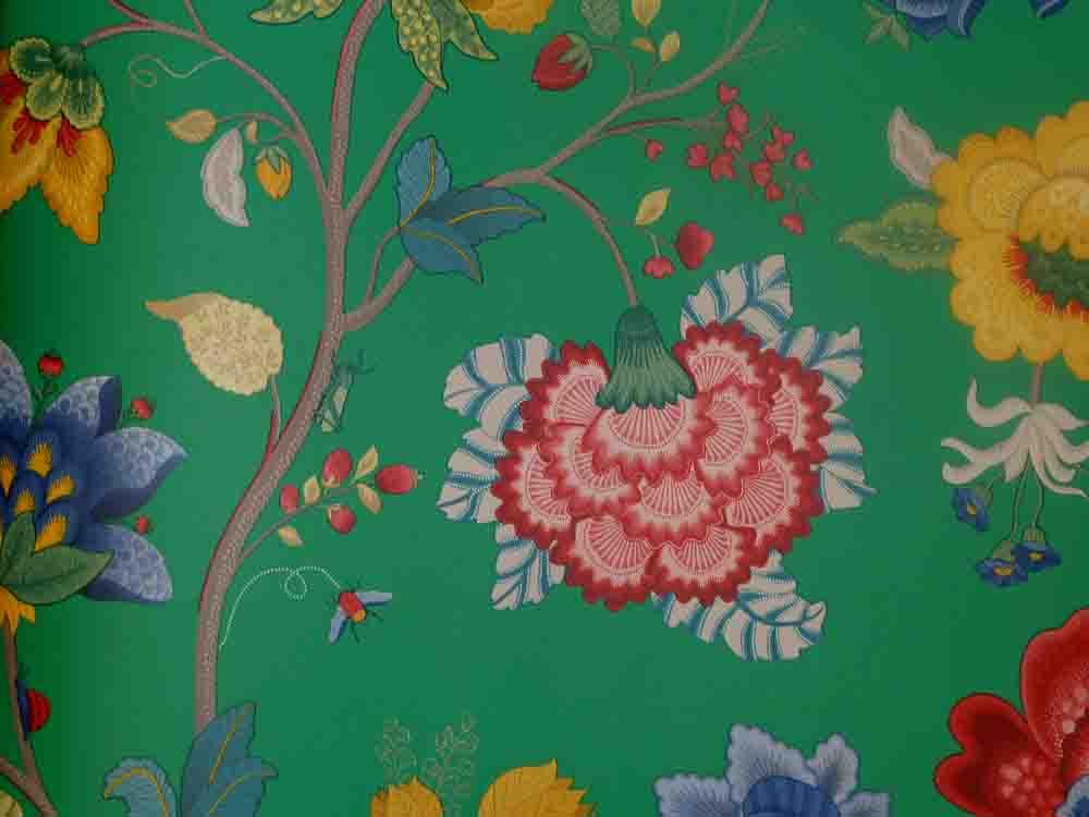 pip studio papier peint polaire 341036 floral vert vintage. Black Bedroom Furniture Sets. Home Design Ideas