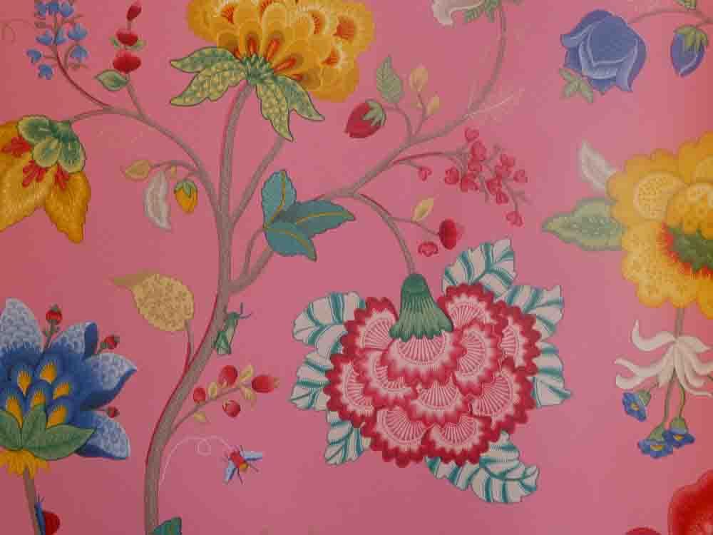 pip studio vlies tapete 341031 floral pink vintage. Black Bedroom Furniture Sets. Home Design Ideas