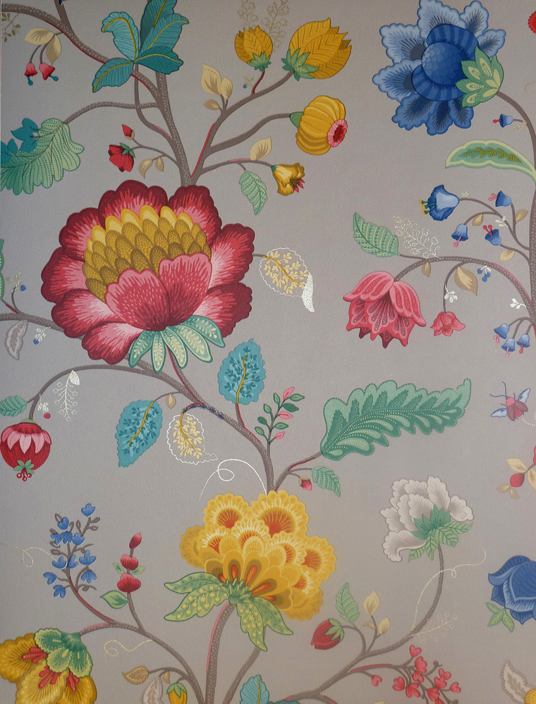 pip studio vlies tapete 341039 floral grau vintage euro pro m ebay. Black Bedroom Furniture Sets. Home Design Ideas
