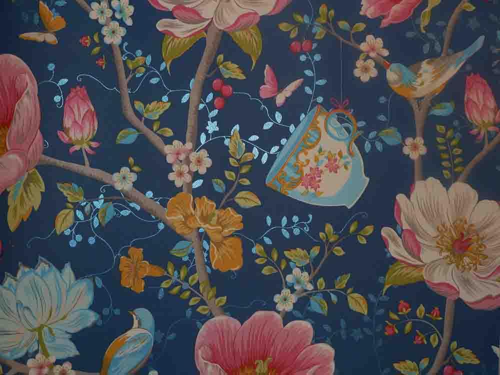 pip studio vlies tapete 341003 floral v gel blau vintage euro pro m ebay. Black Bedroom Furniture Sets. Home Design Ideas