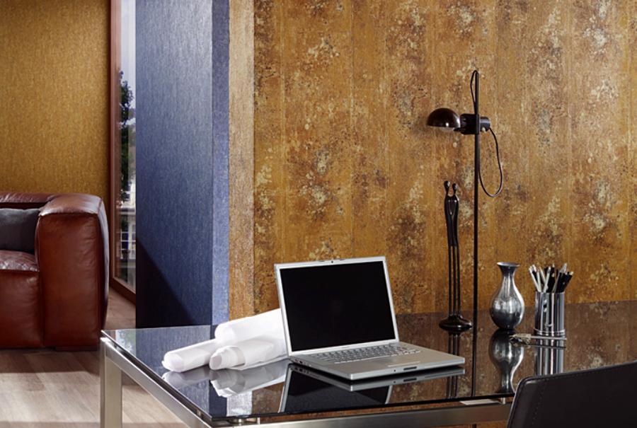 Origin vlies tapete beton optik 42100 10 gold bronze for Tapete orientalisch
