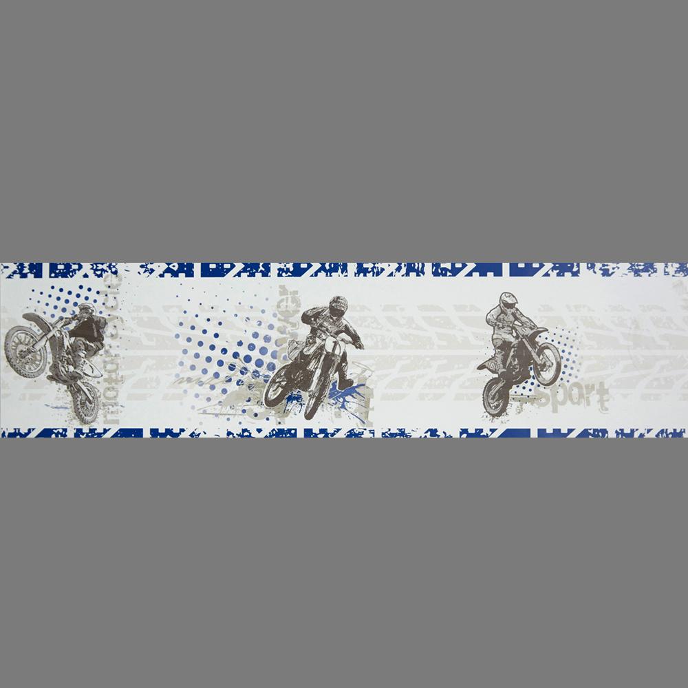 boys wallpaper border selfadhesive olb 6482 6050 motocross