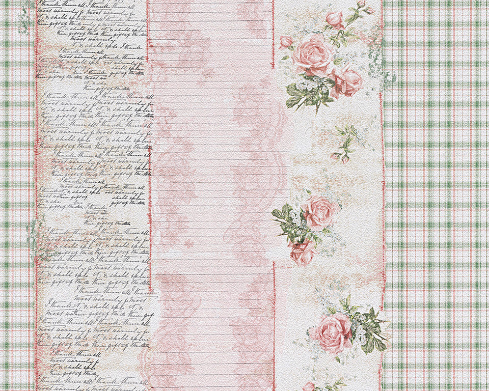 Djooz tapete 95666 1 landhaus romantik vintage rosen for Tapete vintage