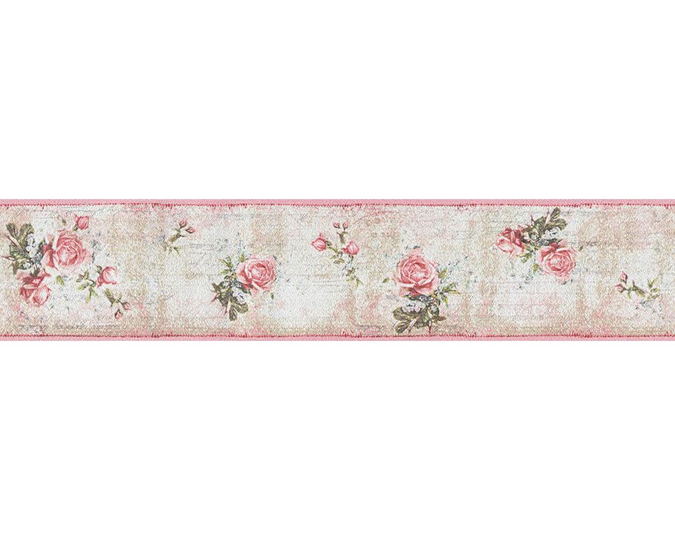 Djooz Tapeten-Bordüre 95665-1 Romantik Vintage Rosen rosa (2.19 Euro ...